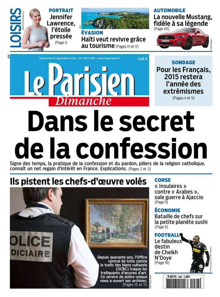 Le Parisien + Le Guide de votre Dimanche 27 Décembre 2015