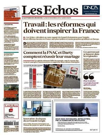 Les Echos Du Lundi 9 Novembre 2015