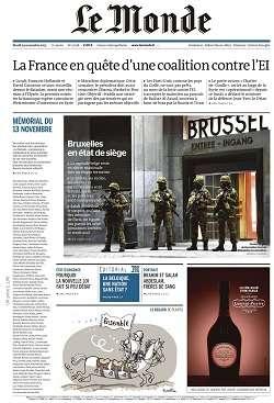 Le Monde et Supplément du Mardi 24 Novembre 2015