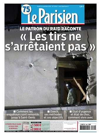 Le Parisien + Journal de Paris du Jeudi 19 novembre 2015