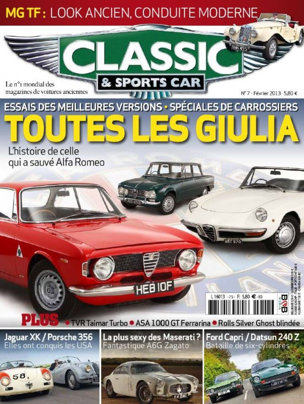 Classic & Sports Car 7 - Février 2013