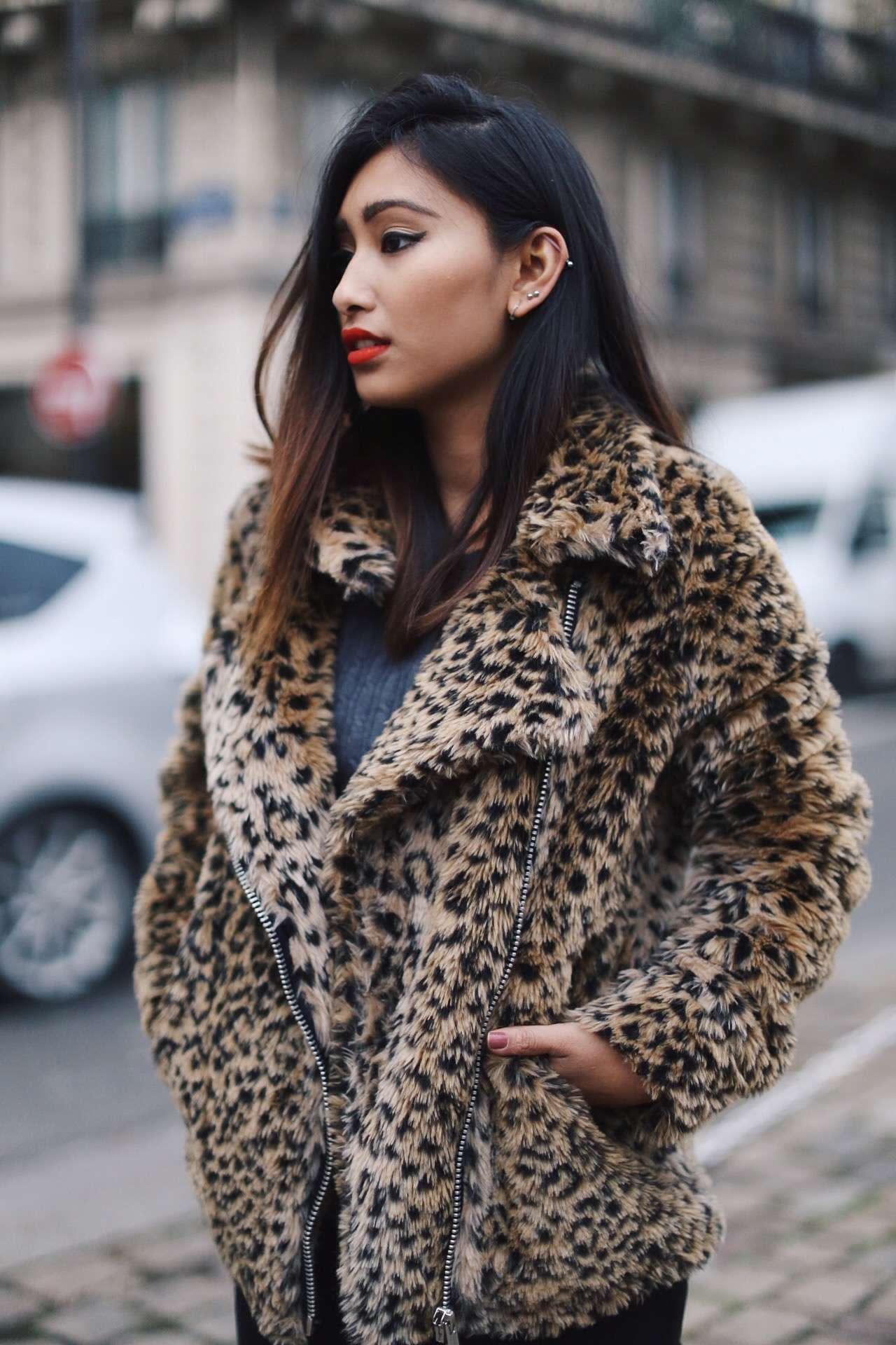 manteau motif léopard blog mode paris