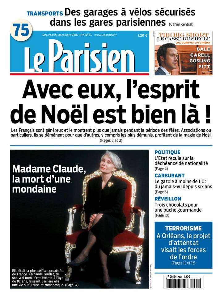 Le Parisien + Journal de Paris du Mercredi 23 Décembre 2015