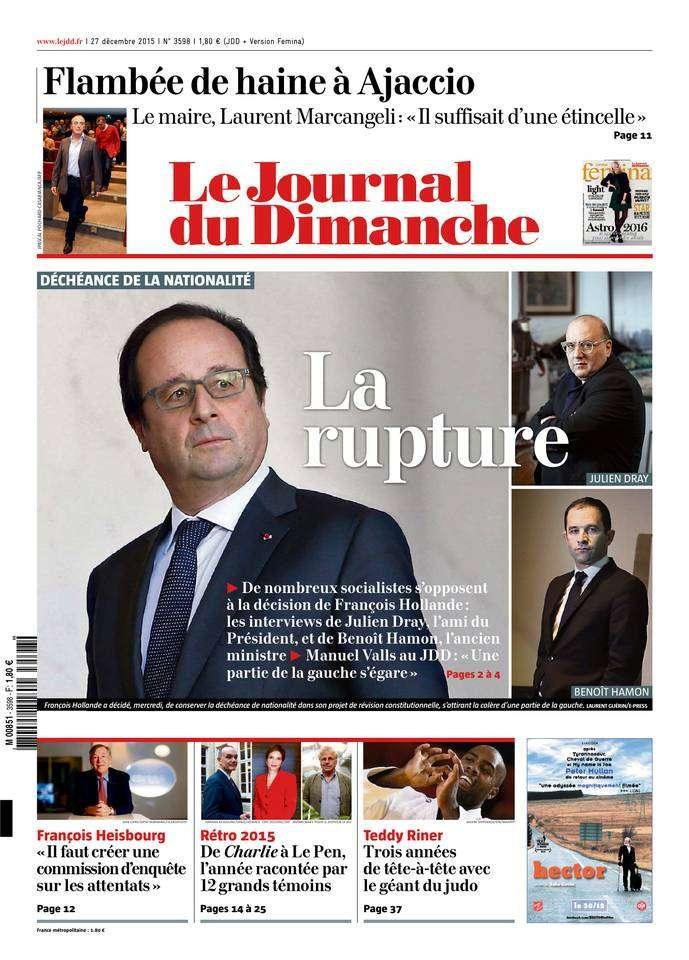 Le Journal du Dimanche - 27 Décembre 2015