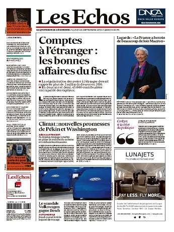 Les Echos Du Lundi 28 Septembre 2015