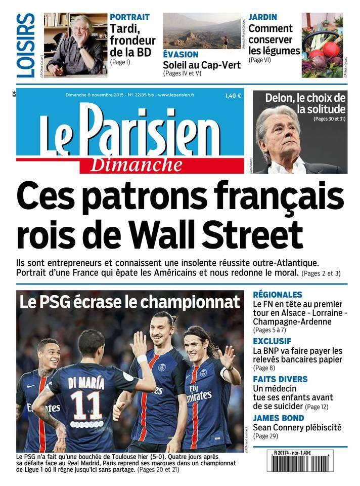 Le Parisien + Le Guide de votre Dimanche 8 Novembre 2015