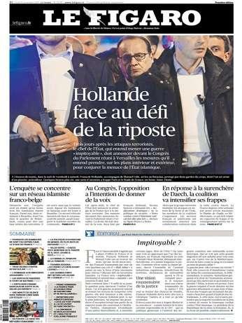 Le Figaro Du Lundi 16 Novembre 2015