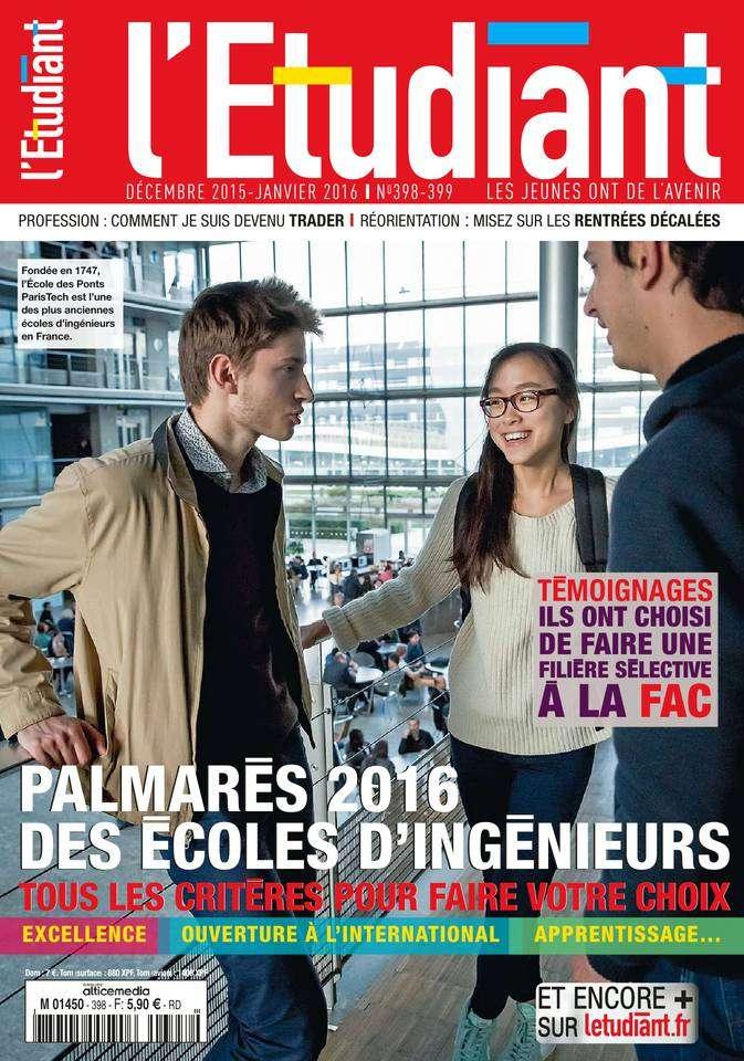 L'Etudiant 298-299 - Décembre 2015/Janvier 2016