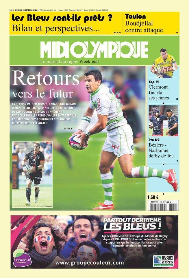 Midi Olympique Vert 11 septembre 2015