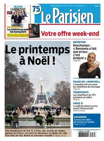 Le Parisien + Journal de Paris du Vendredi 18 décembre 2015