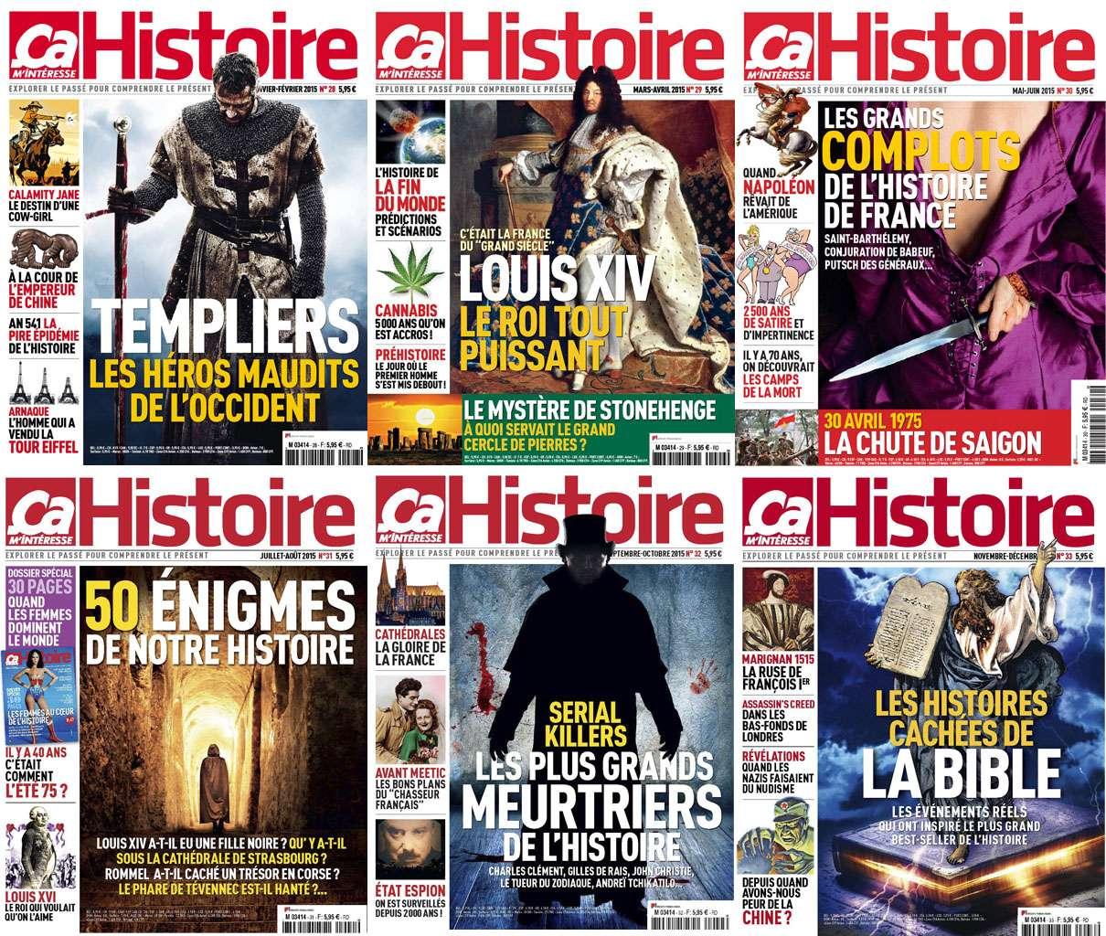 Ça M'intéresse Histoire - Collection Annuelle 2015