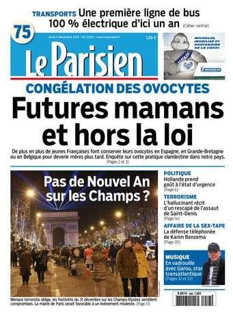 Le Parisien + Journal de Paris du jeudi 3 décembre 2015