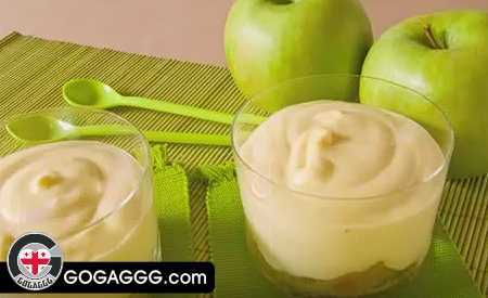 დესერტი ვაშლის მუსი