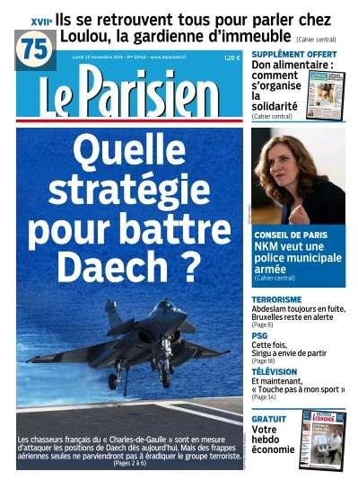 Le Parisien du Lundi 23 Novembre 2015