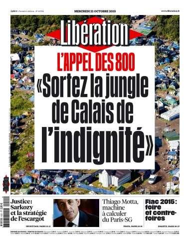 Libération du Mercredi 21 Octobre 2015