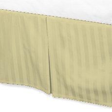Jay's Home Goods Luxurious 100% Egyptian Cotton 1PC Bed Skirt 800 Thread Count in Stripe Ivory , Cal King with 16
