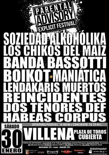 Parental Advisory Explicit Festival - cartel
