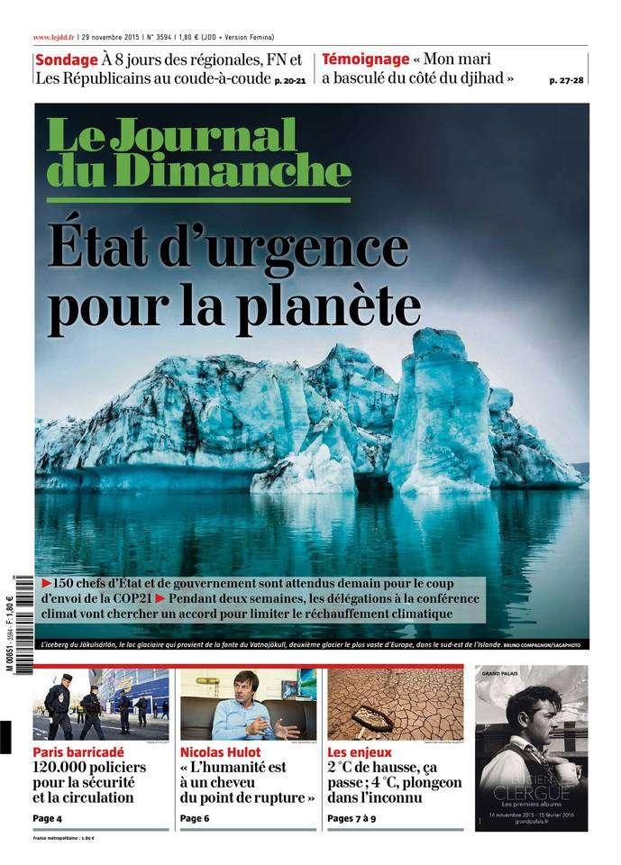 Le Journal du Dimanche - 29 Novembre 2015