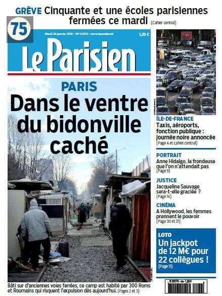 Le Parisien + journal de Paris du Mardi 26 Janvier 2016