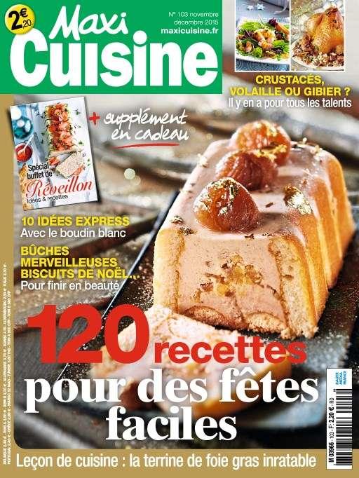 Maxi Cuisine 103 - Novembre-Décembre 2015