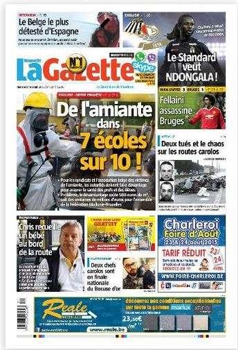 La Nouvelle Gazette du Mercredi 19 Aout 2015