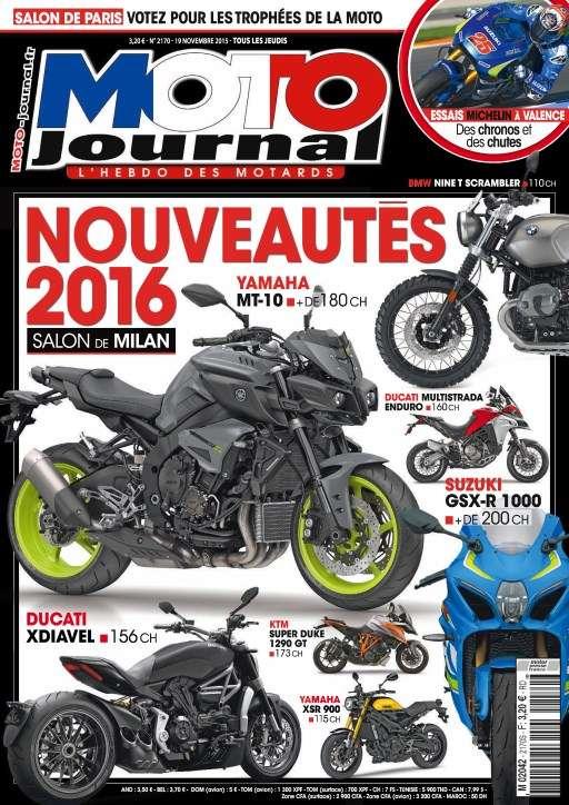 Moto Journal 2170 - 19 au 25 Novembre 2015