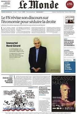 Le Monde + 2 suppléments du Vendredi 6 novembre 2015