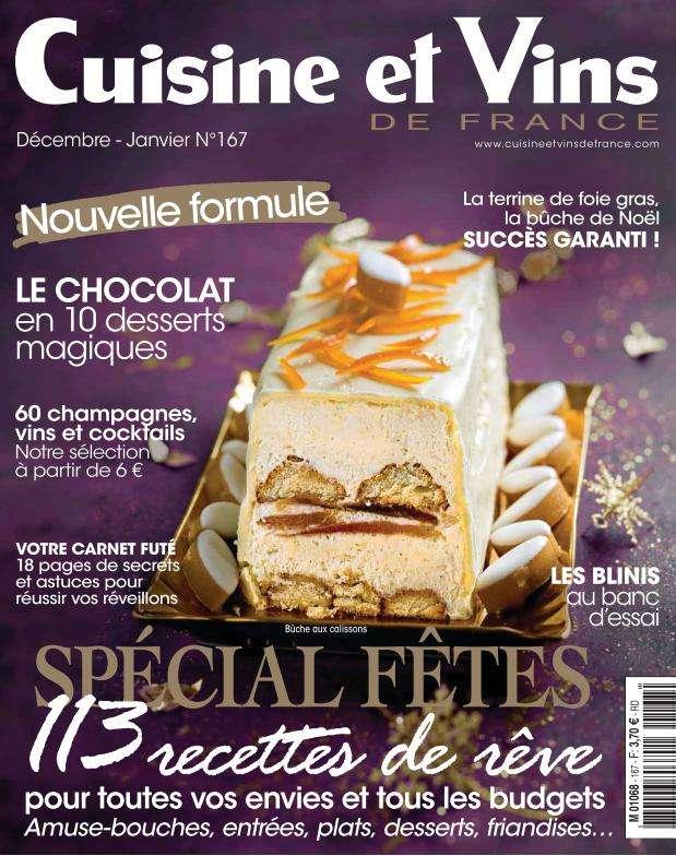 Cuisine et Vins de France 167 - Décembre-Janvier 2016