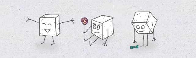 Zuckerwürfel Comic süß