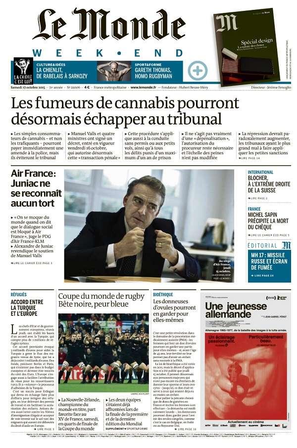 Le Monde Weekend et 4 Suppléments du Samedi 17 Octobre 2015