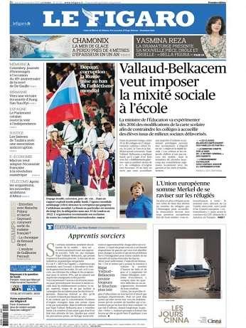 Le Figaro Du Mardi 10 Novembre 2015