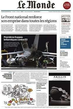 Le Monde + 2 suppléments du Vendredi 4 Décembre 2015