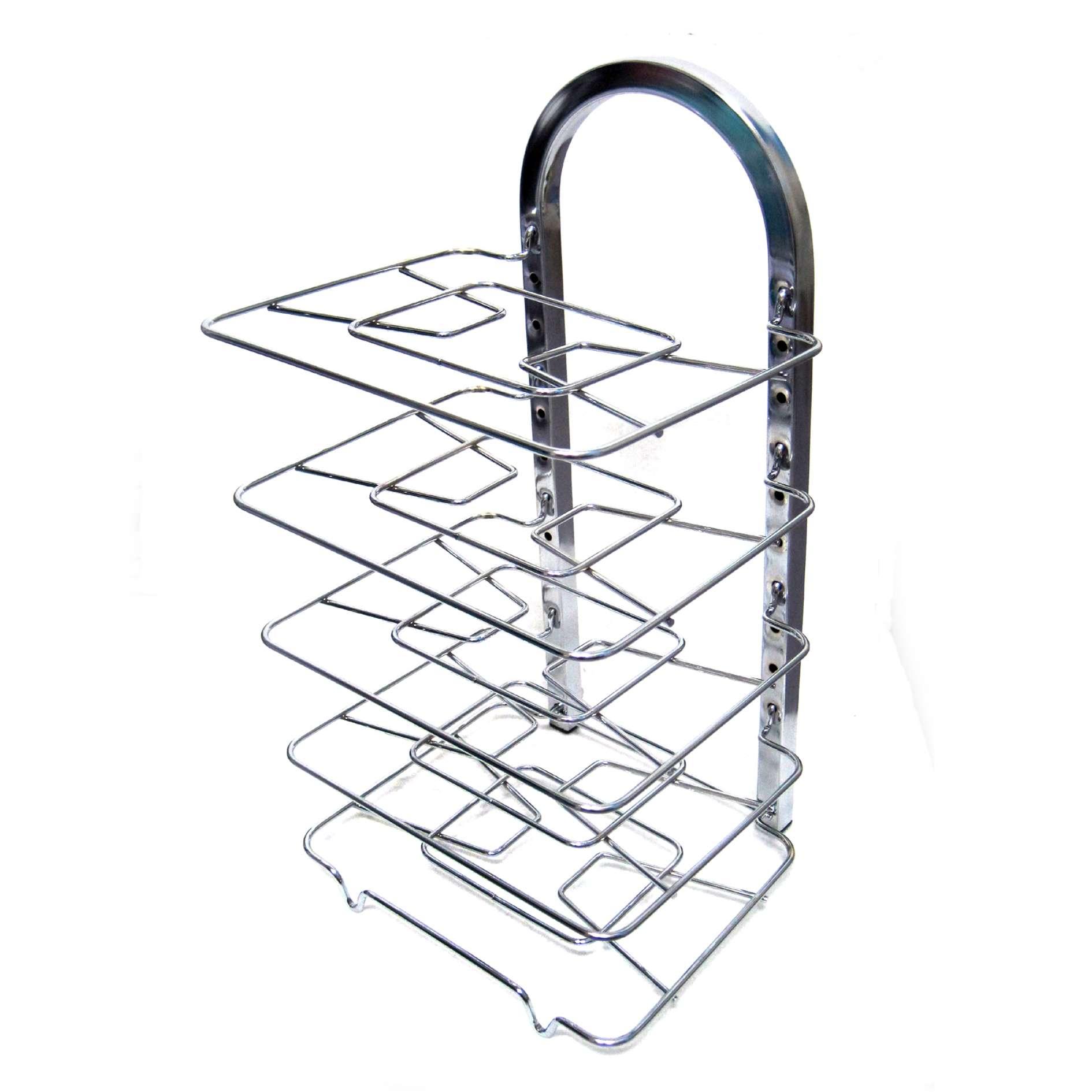 Square Stainless Steel Fry Pan Rack Frying Pan Organizer