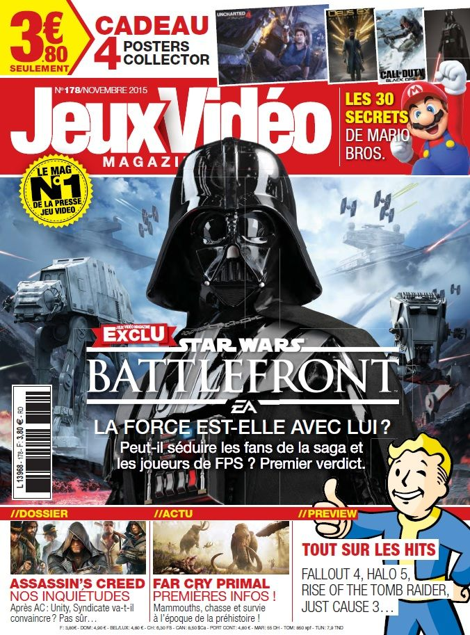 Jeux Vidéo magazine 178 – Novembre 2015