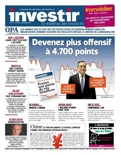 Investir - 5 Décembre 2015