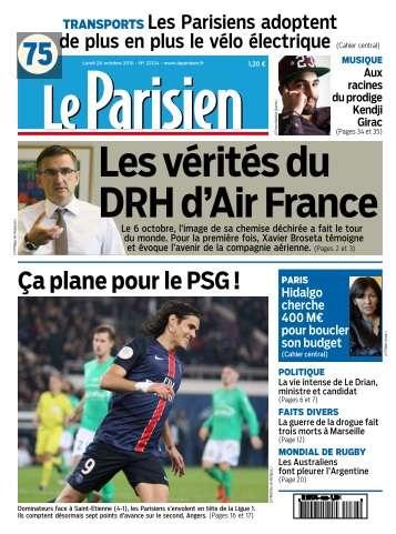 Le Parisien du Lundi 26 Octobre 2015
