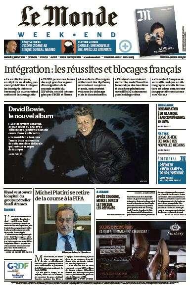 Le Monde du Samedi 9 Janvier 2016