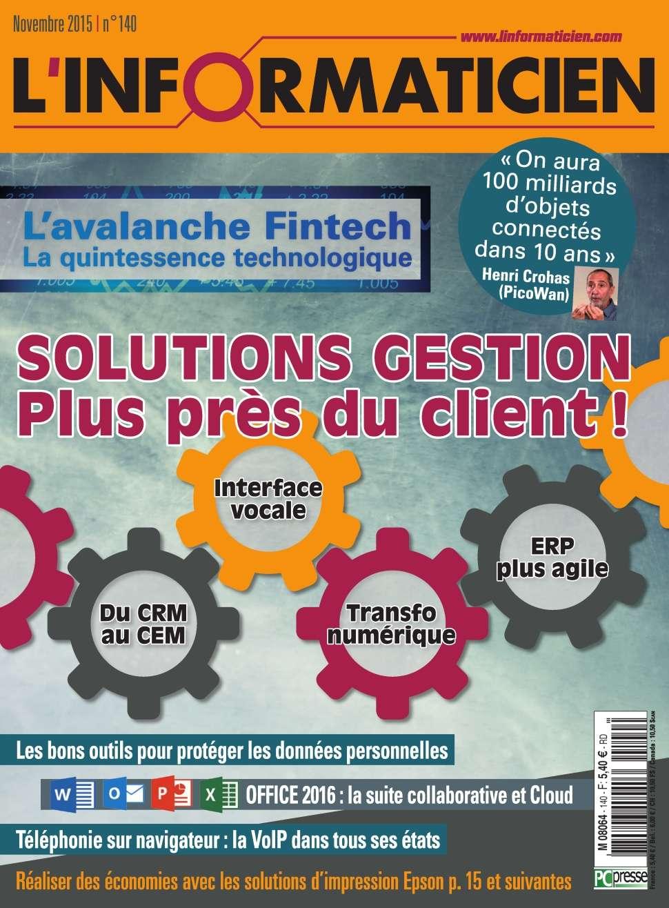 L'Informaticien 140 - November 2015