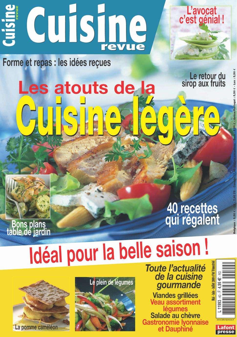 Cuisine Revue 40 - Les atouts de la cuisine légère