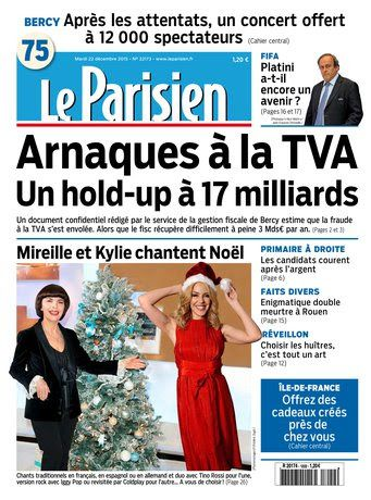 Le Parisien + Journal de Paris Du Mardi 22 Décembre 2015
