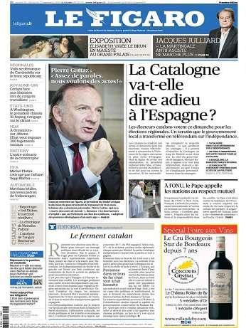 Le Figaro Du Samedi 26 & Dimanche 27 Septembre 2015