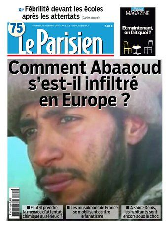 Le Parisien + Journal de Paris du Vendredi 20 Novembre 2015