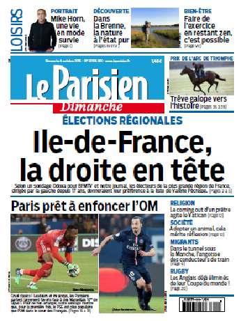 Le Parisien Du Dimanche 4 Octobre 2015