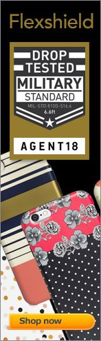 The Agent18 Cases offers military grade drop protection in a high fashion flexible case