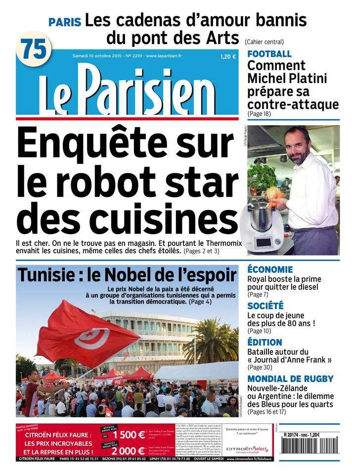 Le Parisien du Samedi 10 Octobre 2015