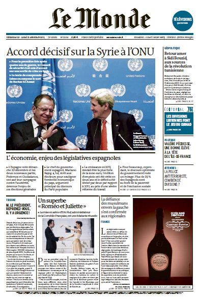 Le Monde et Supplément du Dimanche 20 et Lundi 21 Décembre 2015