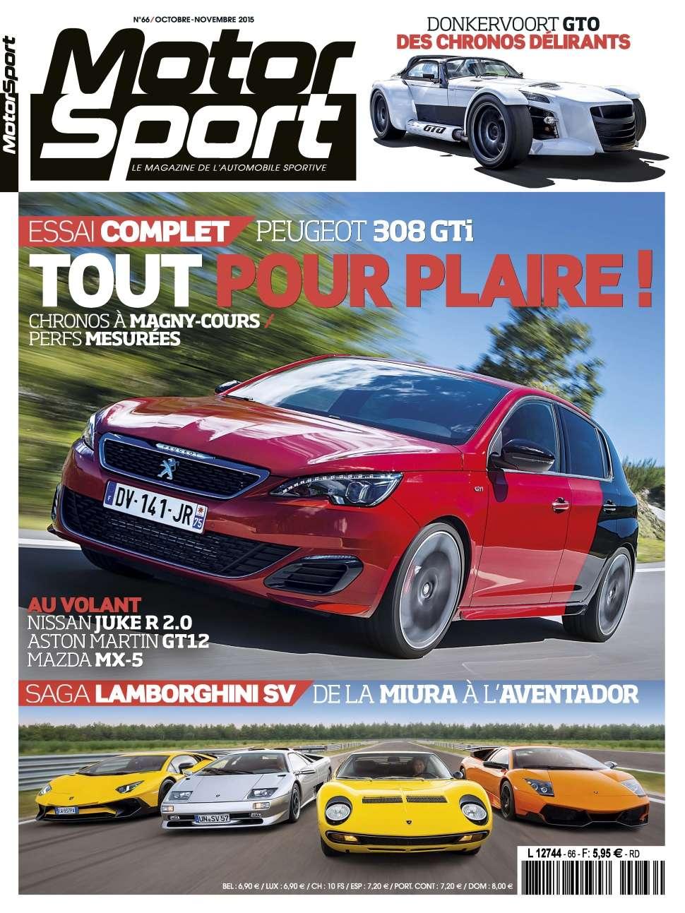 Motorsport 66 - Octobre/Novembre 2015