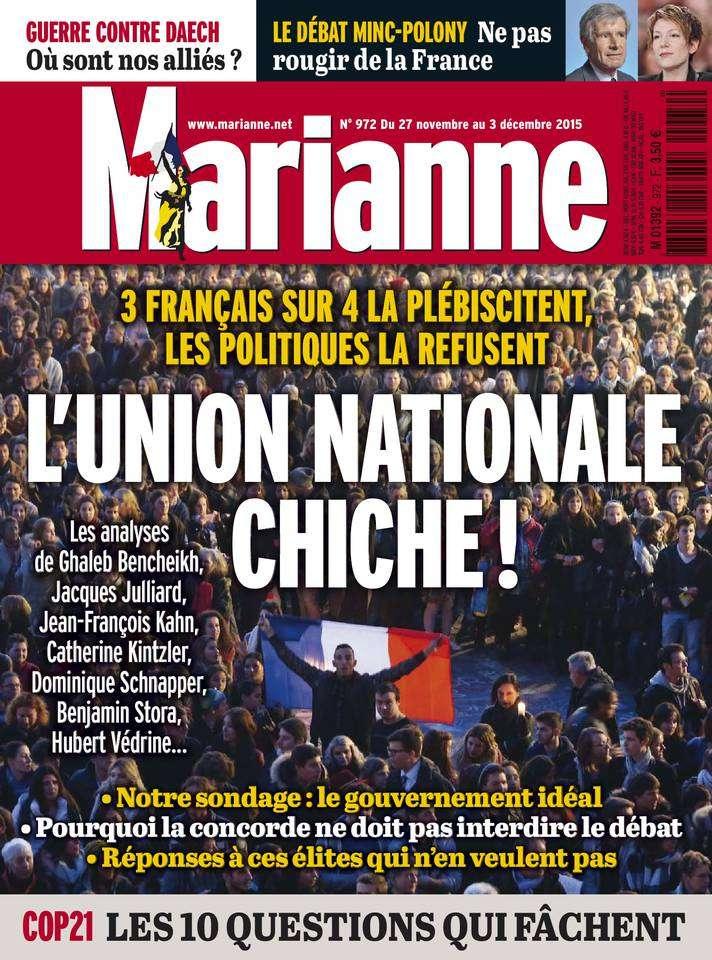 Marianne 972 - 27 Novembre au 3 Décembre 2015