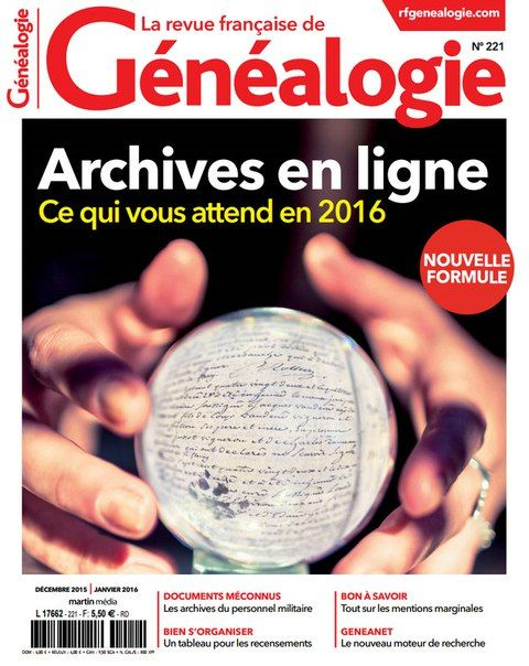 La Revue Française de Généalogie 221 - Décembre 2015/Janvier 2016