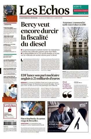 Les Echos du Jeudi 22 Octobre 2015